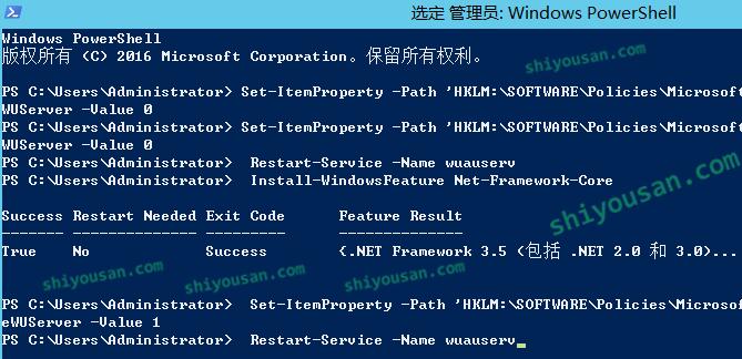 成功安装.NET 3.5
